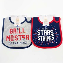Carter's Baby Just One You Bibs One Size Teething Grilling Patriotic - $5.95