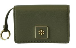 Nwt Tory Burch Clara Key Ring Card Case, Green - $92.65