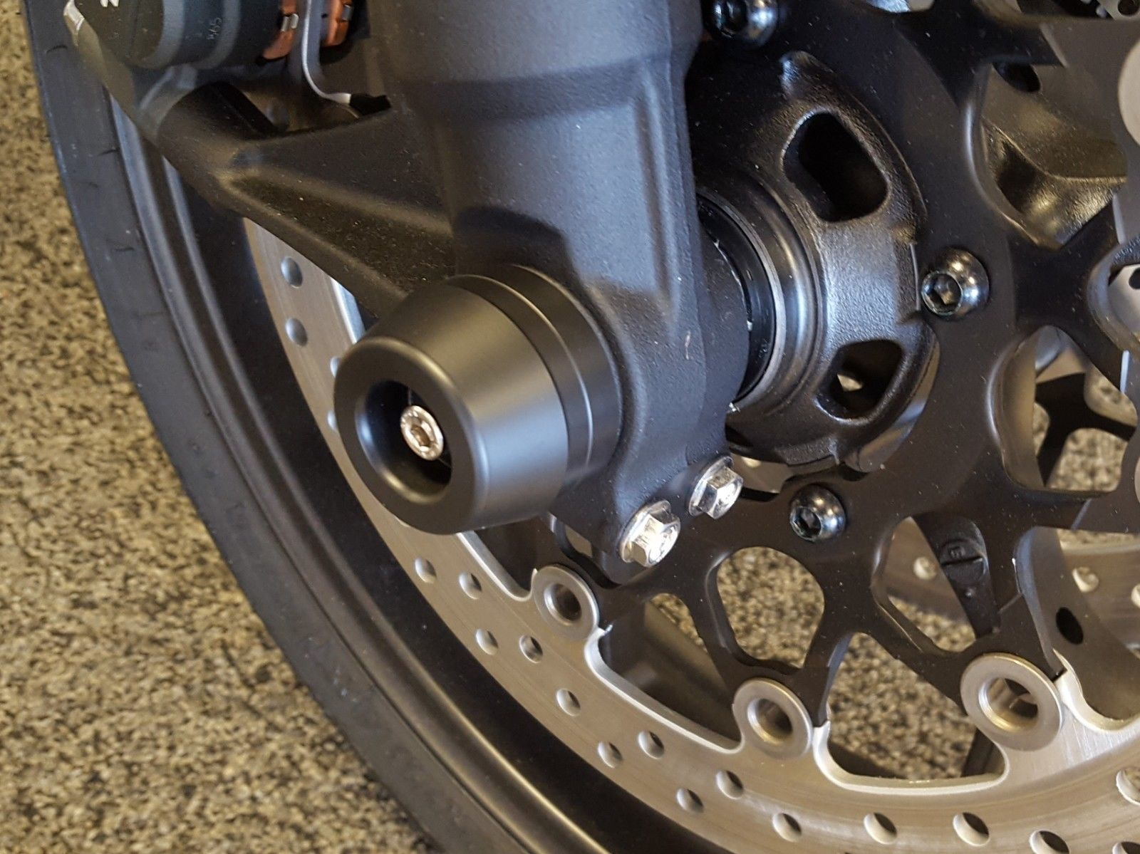 OES Carbon Frame Sliders and Fork Sliders 2019 Honda CB1000R No Cut Made In USA image 2
