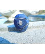 Silpada Modern Brutalist Sterling Lapis Midnight Abstract Hammered Ring, Sz 7 - $64.35