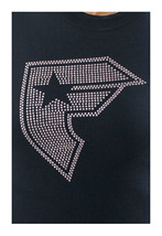 Famous Stars & Straps Black Pink Studs Lucky BOH Juniors Tee Size: Medium image 1
