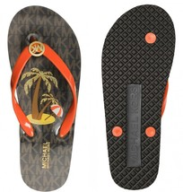 NWB! MICHAEL KORS ~Sizes 6 & 8 ~ MK Logo Signature Thong Flip Flops Sand... - $35.99