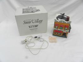 """Dept. 56 Snow Village Christmas """"Al's TV Shop"""" Building, #5423-2, w/Box - $14.99"""