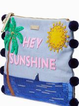KATE SPADE NWT ON PURPOSE HEY SUNSHINE EMBELLISHED CLUTCH OCEAN PALM TRE... - $4.685,88 MXN