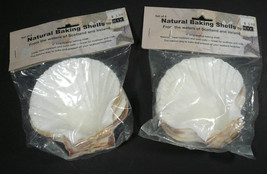 """New (8) Scalloped Natural Baking Shells 4"""" From the Waters of Scotland &... - ₹572.88 INR"""