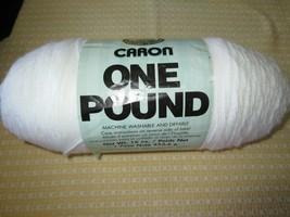 Caron One Pounder #0501 Bright White 100% Acrylic 4-Ply Yarn - 812 Yds. - $7.00