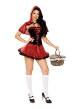 Roma Scared Little Red Riding Hood Sequin Corset Dress Costume 4936 - $68.99