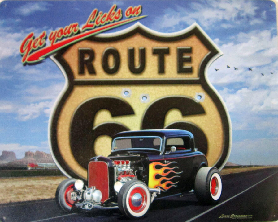 Get Your Licks-Route 66 Metal Sign