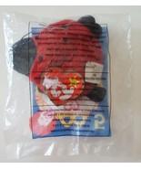 Red LUCKY the LADYBUG Ty Teenie Beanie Baby New 2000 McDonalds Happy Mea... - $9.85