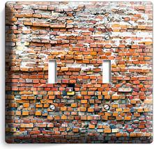 Rustic Brick Stone Morter 2 Gang Light Switch Wall Plates Room Modern Loft Decor - $11.69