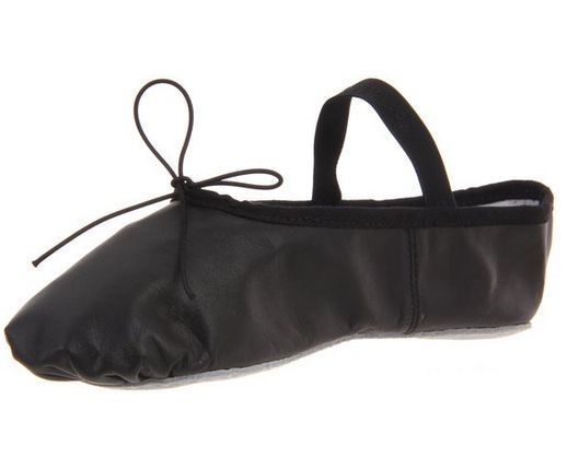 Capezio Daisy 205 Leather Ballet Shoe Womens 9.5 M Black NIB 1 Piece Sole