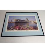VINTAGE USS North Carolina Memorial Wilmington NC Framed 16x20 Poster Di... - $79.19