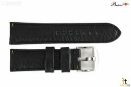 Bandenba 22mm Genuine Black Textured Leather Panerai Stitched Watch Band Strap - $32.13