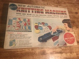 Vintage Kenner's Automatic Knitting Machine Kenner Toy 1966 Dolls Clothes - $34.14
