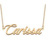 Carissa Name Necklace for Best Friends Family Girl Friend Birthday Gifts - $13.99+