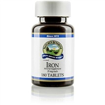 Nature's Sunshine Iron Chelated 25 Milligram, 180 Tablets Pack of 2 - $36.95