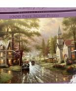 Ceaco Thomas Kinkade Hometown Evening 1000 Pcs Puzzle NEW - $19.79