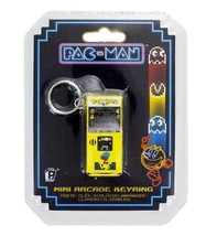 PAC-MAN Arcade Game 3D Arcade Image Metal Key Chain Key Ring NEW UNUSED - $6.89