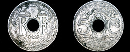 1918 French 5 Centimes World Coin - France - $5.99