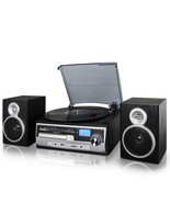 Trexonic 3-Speed Vinyl Turntable Home Stereo System with CD Player, FM R... - $129.80