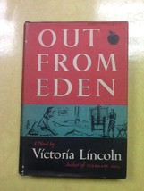 Out From Eden Victoria Lincoln Hardcover Book - $0.99