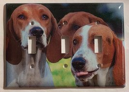 American Foxhound Dog Light Switch Outlet Cover Plate Home Decor image 3