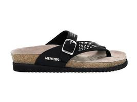 Sandalia plana MEPHISTO HELEN SP B de nabuk negro - Zapatos Mujer - $97.92