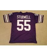 UNSIGNED CUSTOM Sewn Stitched Scott Studwell Purple Jersey - M, L, XL, 2XL - $33.99