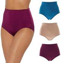 Rhonda Shear 3 Pack Smooth Pinup Brief with Lace Trim LARGE - $14.84
