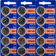 CR2025 Battery Lithium Coin Batteries (Pack of 15) by Sony - $6.35