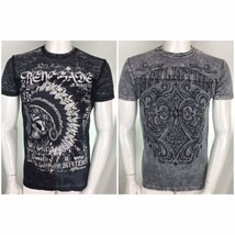 Affliction T Shirt Mens Reversible Large Indian Headdress Victory In Dea... - $39.26