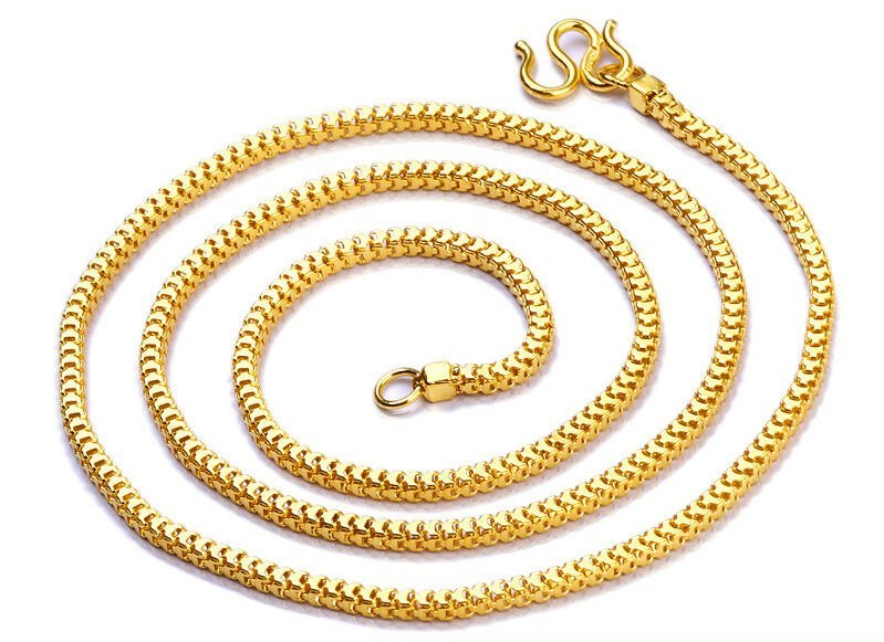 dc608bcf66fd2 24K Pure Gold Necklace Real AU 999 Solid and 34 similar items