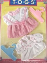 "Twin Togs Outfits Striped Dress and Floral Blouse Fits 5.5"" Baby Dolls S... - $9.57"