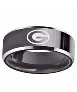 Georgia Bulldogs Ring Wedding Band Black Tungsten Laser Etched Sizes 6 - 13 - $29.90