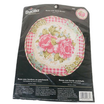 Plaid BUCILLA Needlepoint Kit Rose With Quilt Border 4885 Sealed Suzanne... - $24.60