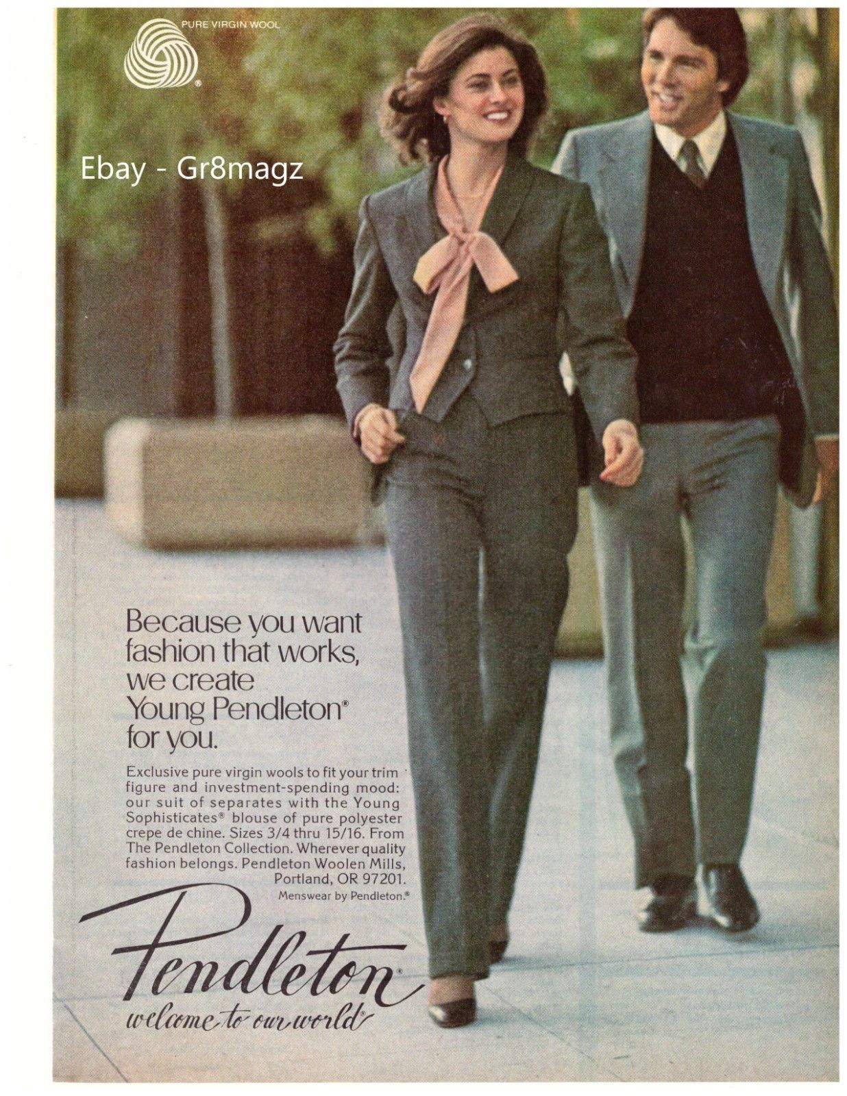 1979 Pendleton Woolen Mills Sexy Mens Suit And 18 Similar Items
