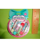 LIP SMACKER 4pc Gift Set Snow Globe Ornament Lip Balm Gloss Holiday  - $10.88