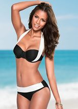 Sexy Women Bikini Thong Bottom Brazilian V Cheeky Ruched Semi Swimwear B... - $20.50