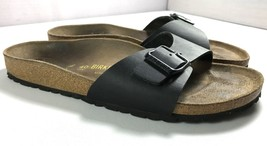 Birkenstock Womens Black Leather Sandals Size 9 Euro 40 Made in Germany - $62.26
