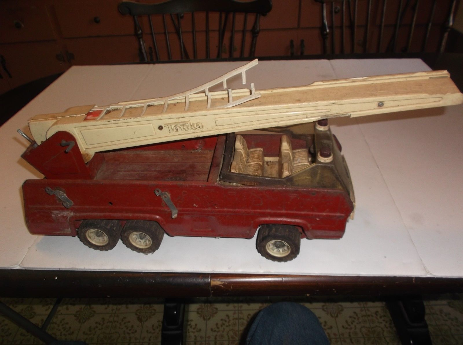 Vintage Tonka Fire Engine Ladder Truck Steel and 50 similar