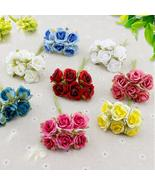 6 pcs Silk Rose flores Artificial Flowers cheap Bouquet home Wedding Dec... - $0.80