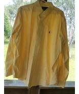 Ralph Lauren shirts men size 2XXL yellow long sleeve - $30.00