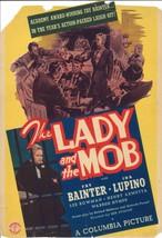 *THE LADY AND THE MOB '39 Mini Window Card Fay Bainter & Ida Lupino Crim... - $45.00