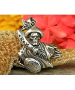 Pirate Skull Pendant Tampa Bay Buccaneers Sterling Silver Peter Stone - $37.95