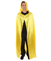 Adult Men's Hooded Cape Costume | Gold Color Halloween Costume HC-772 - $31.85
