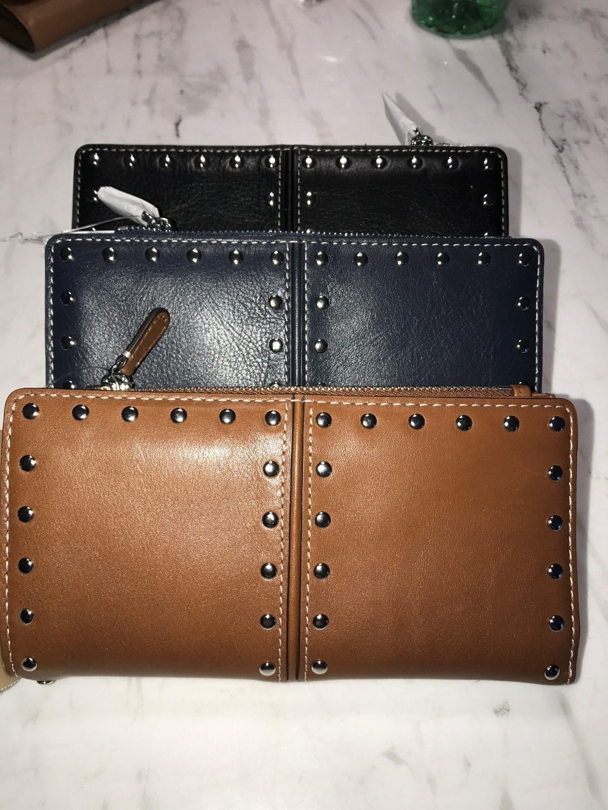 713441afe62 Michael Kors Astor Top Zip Studded Continental Clutch Wallet   Coin Purse  NWT