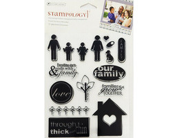 Autumn Leaves Stampology Family Clear Stamp Set #AL3450