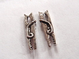 Clothes Pin Stud Earrings 925 Sterling Silver Corona Sun Jewelry laundrette wash - $1.97