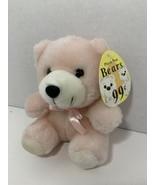 """Atico Plush Fun Bears small mini 6"""" light pink white teddy stuffed animal - $8.90"""