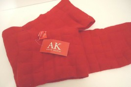 Ladies Women's Long Anne Klein Quilted Red Scarf, O/S - $43.07